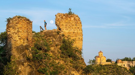 Take a hike up the Narikala Fortress to enjoy the surrounding views of Old Tbilisi in Georgia