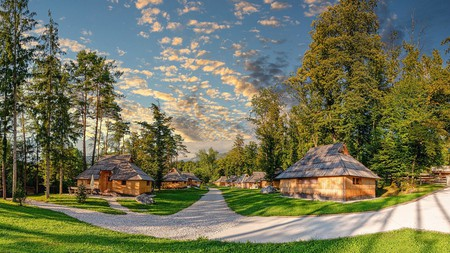 Keep your eyes peeled for deer as you walk around the Slovenia Eco Resort.