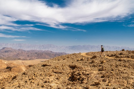 Travel across the Negev Desert to see the craters that mark the rocky landscape