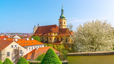 The Church of Our Lady Victorious is in the hillside Malá Strana neighbourhood, on the west bank of the Vltava