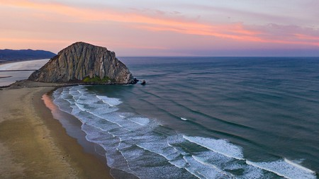 """Morro Bay is known as """"the Gibraltar of the Pacific"""" for its imposing ancient volcanic mound rising from the Pacific Ocean"""