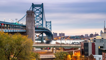 Philadelphia has some fascinating historical sights – and feats of engineering such as the Benjamin Franklin Bridge