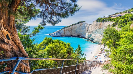 Porto Katsiki impresses with turquoise waters against a backdrop of white cliffs