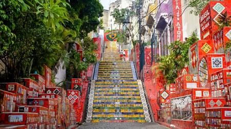 The Escadaria Selaron is an iconic spot for a photo in Lapa, Rio de Janeiro