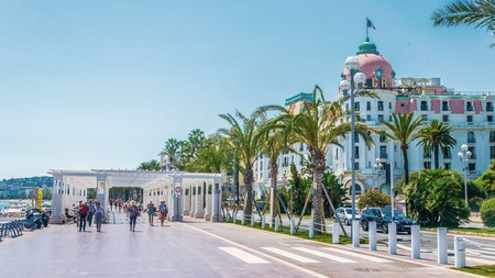 Le Negresco is an iconic Nice hotel that is a must-visit on a road trip through the Côte d'Azur
