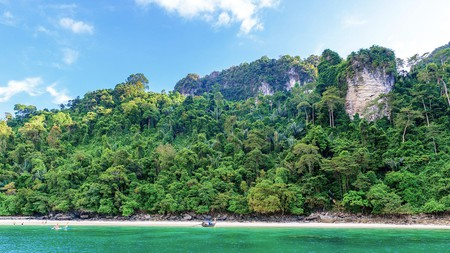 Within a day of Krabi are idyllic islands and magnificent canals