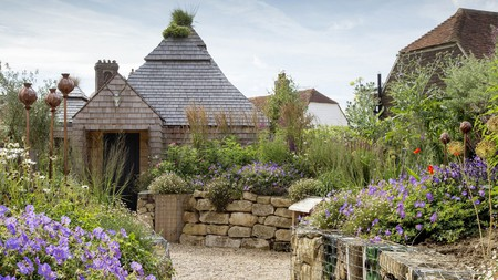 The vibrant gardens of the Bell in East Sussex, England