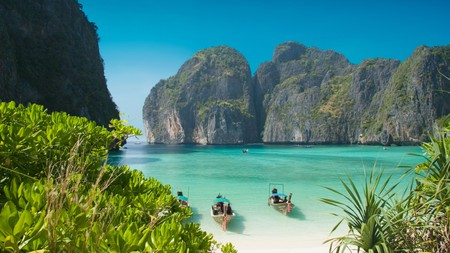 Maya Bay is perhaps the most famous beach in all of Thailand