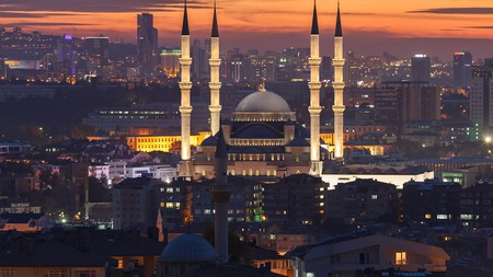 The Kocatepe Mosque is one of the key places of worship in Ankara