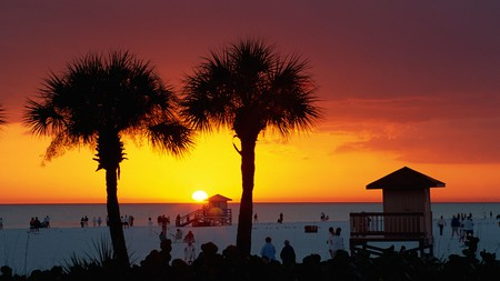 Siesta Key is a perfect spot to catch the sunset