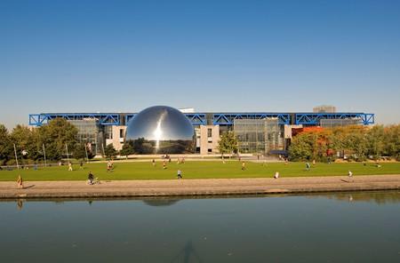 The Cité des Sciences et de l'Industrie in the Parc de la Villette is the largest science museum in Europe