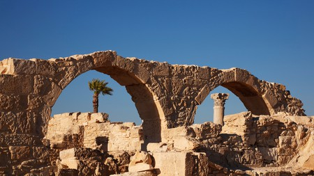 The archeological remains of Kourion provide a window to the ancient city that was once there