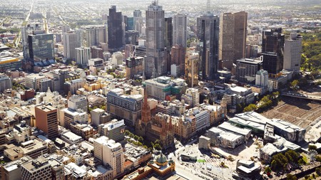 The view of Melbourne from the top of the Eureka Tower is quite something