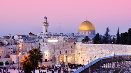 The gold-topped Dome of the Rock is one of the most instantly recognisable sights in the Old City of Jerusalem
