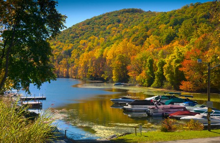 Connecticut has beautiful scenery all around, such as Candlewood Lake