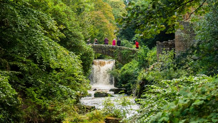 This mood-enhancing trail through Jesmond Dene woodlands, in Newcastle, takes in a scenic waterfall