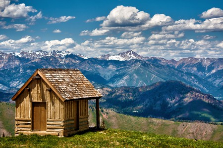 Bald Mountain is home to a ski resort complete with log cabins and sweeping vistas
