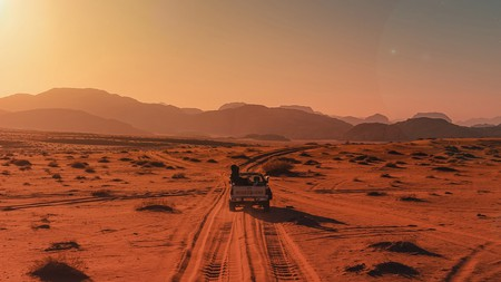 The desert landscape is waiting to be explored