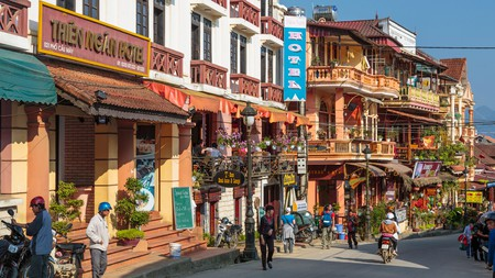 The bustling town of Sapa makes a great base for exploring this mountainous region of Vietnam
