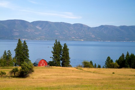 There's a lot of wide open space to camp in Montana, including high-mountain lake settings