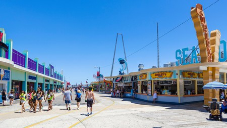 The North Wildwood boardwalk has activities for all the family