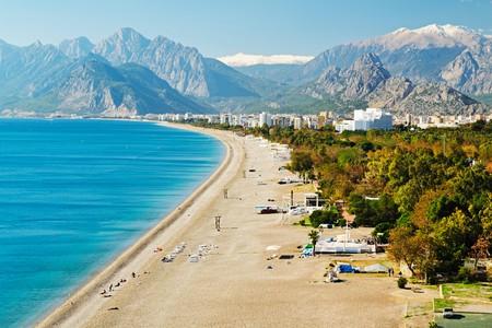 Konyaaltı Beach is one of the most popular in Antalya