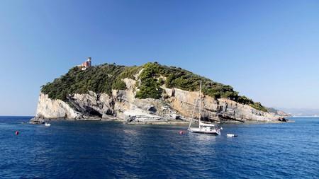 Isola del Tino is a distinct feature of the Cinque Terre coastline