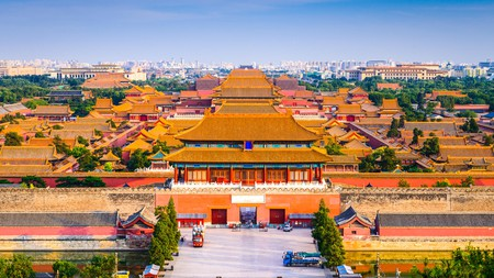 The imposing skyline of Beijing's Forbidden City is a thrilling sight for first-time visitors