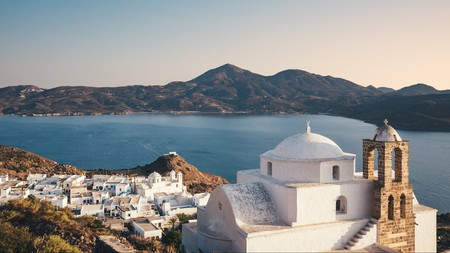 Visit the quaint village of Plaka while on Milos, a Greek island with an abundance of heritage and culture waiting for you to explore