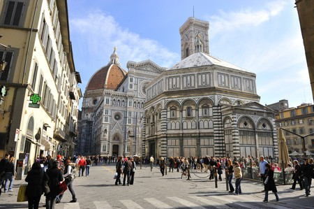 Piazza del Duomo in the historic centre of Florence is a must-visit
