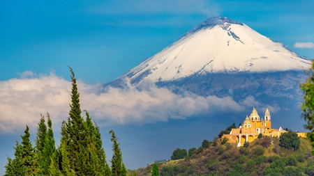 Don't miss a trip to see Popocatepetl, an active volcano, on a visit to Puebla