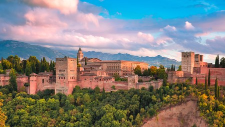 Watch amazing sunsets at the Alhambra Palace in Granada, Andalusia, Spain