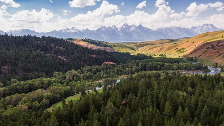 The mountains, valleys, lakes and rivers located in Grand Teton National Park make it a fantastic filming location