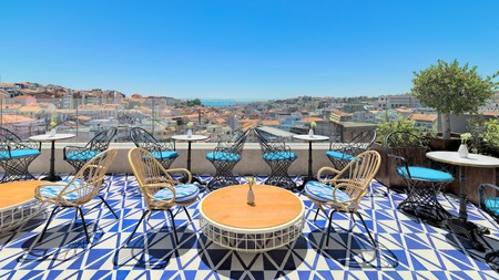 Enjoy city views from the rooftop bar Limão Chill-Out Terrace in Lisbon