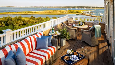 Enjoy the serene views from the Harbor View Hotel on Martha's Vineyard