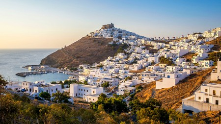 Astypalea's main town, Chora, is dominated by a medieval castle, or Castro