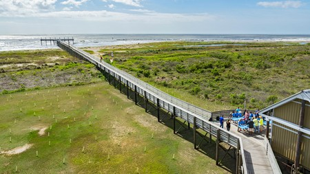 Grand Isle State Park in the Gulf of Mexico is known for its beautiful beaches and lagoons