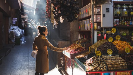 Take a stroll through the Grand Bazaar in Istanbul's city centre where Turkish sights and spices are a regular occurrence here