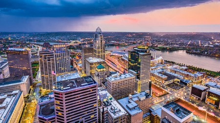 On your next trip to the Queen City, be sure to admire the Cincinnati skyline at twilight