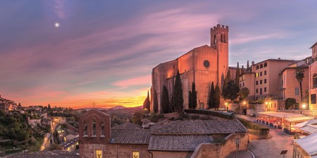 The Basilica of San Domenico is a great backdrop to a drink in Siena