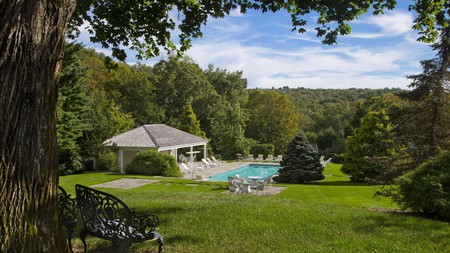 The Mayflower Inn and Spa is a spectacular country retreat that is among the great places to stay in Connecticut