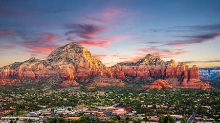 Stunning natural beauty, including Coffee Pot Rock, surrounds Sedona, creating a lot of outdoor adventures