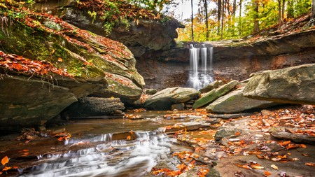 Blue Hen Falls is just one of the waterfalls you can discover in Cuyahoga Valley National Park, Ohio