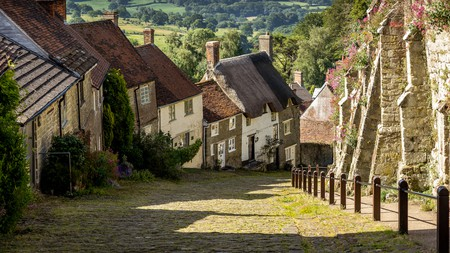Dorset is brimming with charming boutique hotels and places to see, such as Gold Hill, Shaftesbury