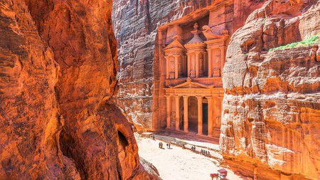 The Treasury at Petra dates back to the first century