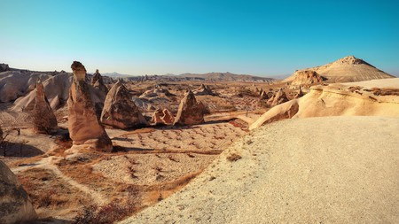 Paşabağ, or Valley of the Monks, in Cappadocia has an other-worldly feel, with fairy chimneys dotting the landscape
