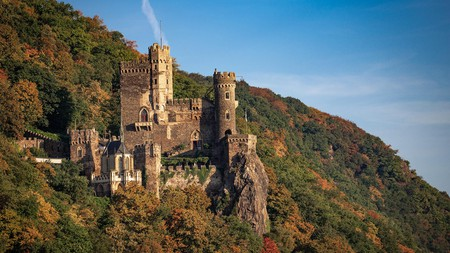 Rheinstein is one of many enchanting castles along the Middle Rhine Valley in Germany