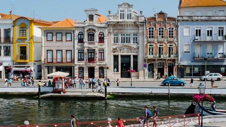 Walk along the river in Aveiro, Portugal