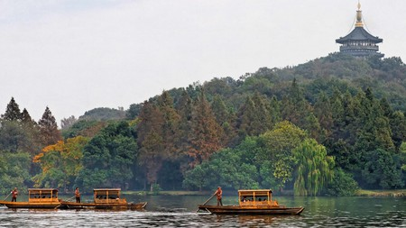 West Lake's pagodas are some of the most impressive sights in Hangzhou