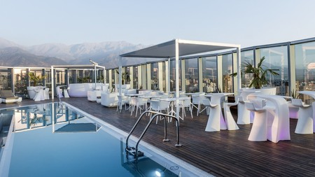 Take in the Santiago skyline from the rooftop pool at ICON Hotel